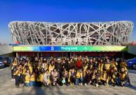 营员们在奥运博物馆合影